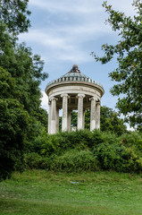 The Monopteros. A Ancient temple in the Englischer Garden