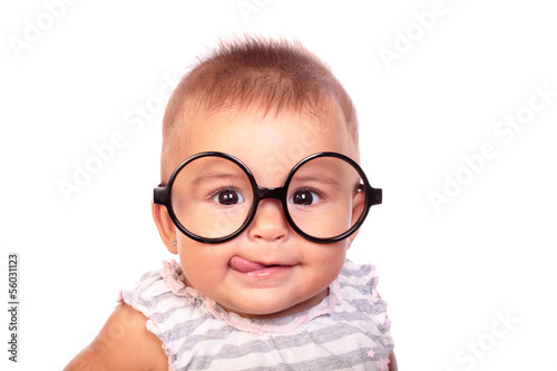 Fototapeta baby and glasses