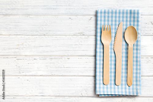 set of wooden cutlery - 56031159