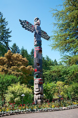 Totem Pole at Butchart Gardens, Central Saanich, British Columbi