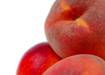 Close-up of fresh tasty nutritious peached