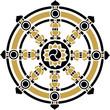 Dharma Rad, Dharmachakra, Glück Symbol Buddhismus