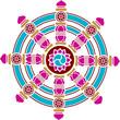 Dharma Chakra, Rad, Glück Symbol, Buddhismus