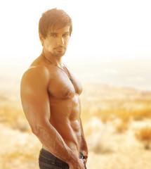 Hot handsome man