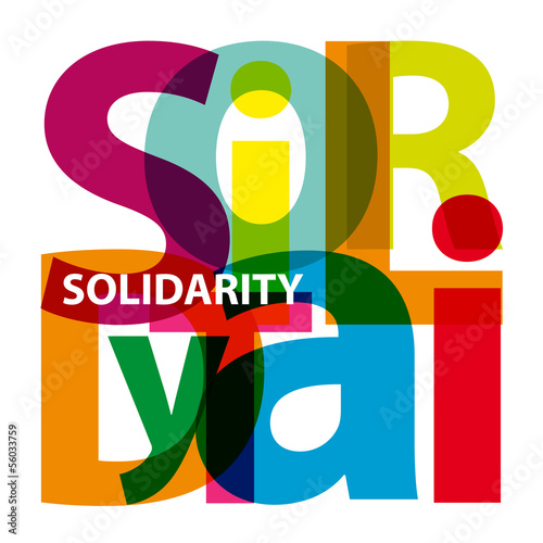 Vector Solidarity. Broken text