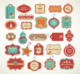 Fototapety Xmas set - labels, tags and decorative elements