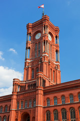 Rotes Rathaus, the town hall of Berlin, Germany