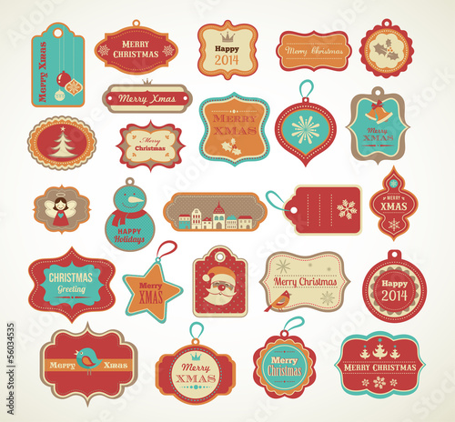Xmas set - labels, tags and decorative elements