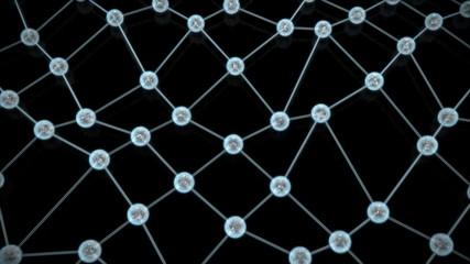 Liquid network of nodes