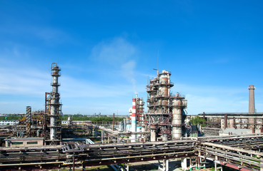 panorama of petrochemical refinery