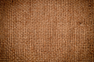 Background texture of burlap or hessian cloth