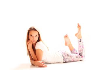 junge entspannte Frau