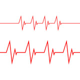 Cardiogram on white background