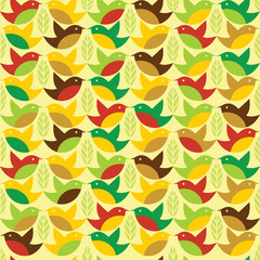 Birds deamless pattern