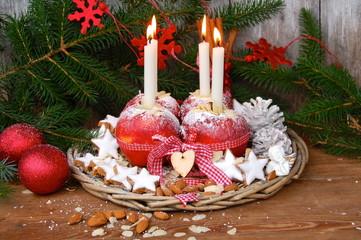 festlicher Weihnachtsteller