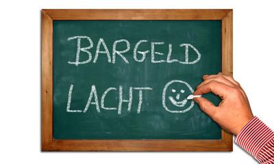 Kreidetafel II - Bargeld lacht