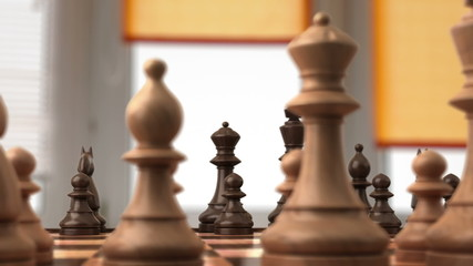 Chess before the fight, 3d animation