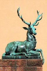 Bronzeskulptur von einem Hirsch - Bild 2