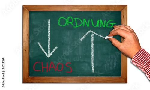 Kreidetafel II - Ordnung - Chaos