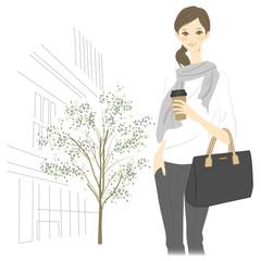 都会で働く女性