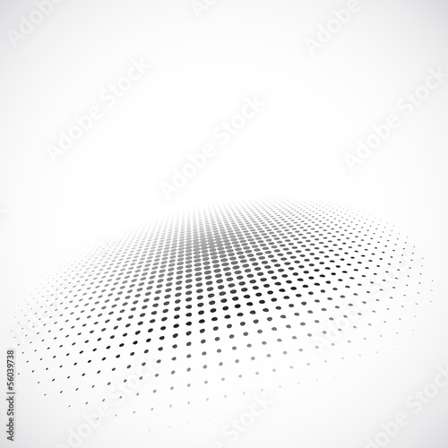 Halftone circle on gray background