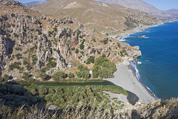 Preveli, Palm beach, Bird's Eye View
