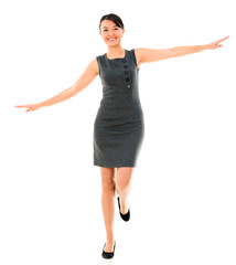 Business woman balancing