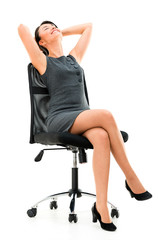 Business woman in a comfortable chair