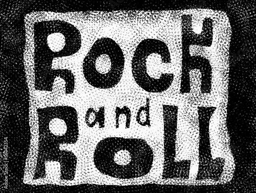 Rock and roll music word backgrounds and texture