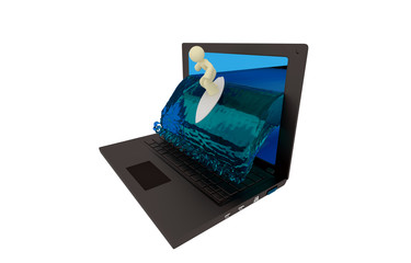 Surfer Laptop Screen
