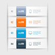 Modern business infographic banners from paper