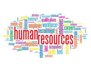 """HUMAN RESOURCES"" Tag Cloud (performance management process)"