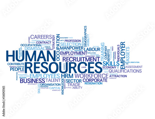"""HUMAN RESOURCES"" Tag Cloud (recruitment employment management)"