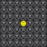 Cheerful smile background