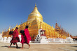 Shwezigon Paya, Bagan, Myanmar. - 56043756