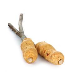 Stockbrot, bread around a wooden stick