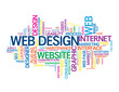 """WEB DESIGN"" Tag Cloud (graphics internet website homepage user)"