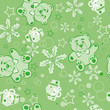 Seamless Pattern.  Abstract Christmas Background.