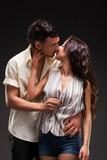 Fashion Couple, Dramatic image shot in studio