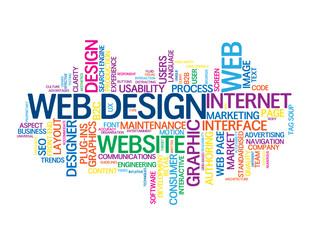"""WEB DESIGN"" Tag Cloud (graphics internet website homepage user)"