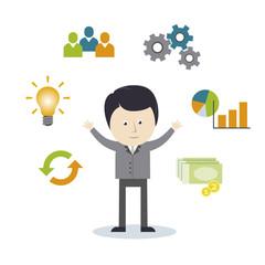 Geschäftsman, Business, Management, Erfolg