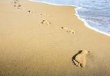 Fototapety Meditation beim Strand Spaziergang