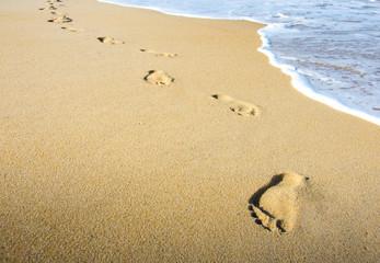 Meditation beim Strand Spaziergang