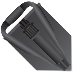 Folded army shovel