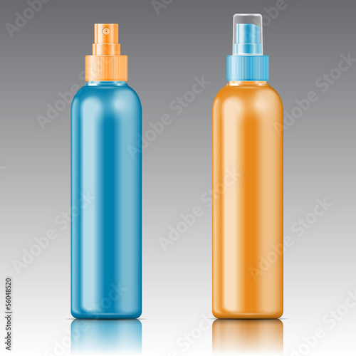 Colored sprayer bottle template.