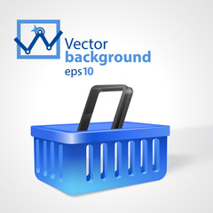 Vector background with shopping basket