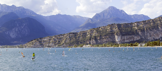 Windsurfer on Garda Lake color image