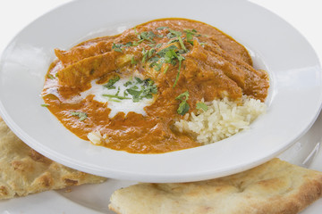 East Indian Butter Chicken Curry with Naan