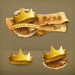 Golden crown, icon