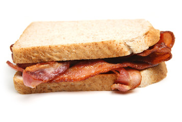 Bacon Sandwich with Sliced Bread